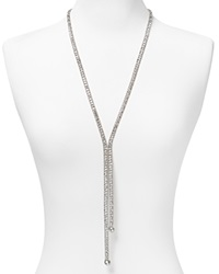 Abs By Allen Schwartz Lariat Necklace 26 Silver