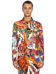 Moschino Archive Printed Cotton Casual Jacket Multicolor