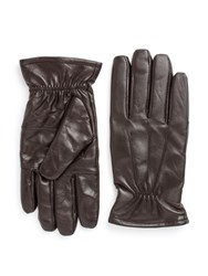 Paul Costelloe Lukas Leather Gloves Brown