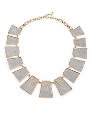 Abs By Allen Schwartz Gold Coast Glitter Panel Collar Necklace Gold Silver