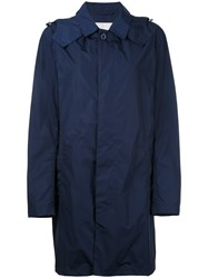 Mackintosh Hooded Coat Men Nylon 38 Blue