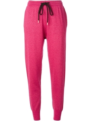 Markus Lupfer Lurex Knitted Joggers Pink And Purple