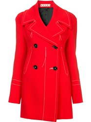 Marni Distressed Style Jacket Red