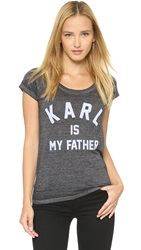 Eleven Paris Karl Tee Burn Out Jersey Black