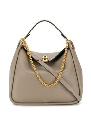 Mulberry Leighton Small Classic Grain Grey