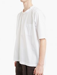Comme Des Garcons Boys White Woven Cotton Oversized T Shirt