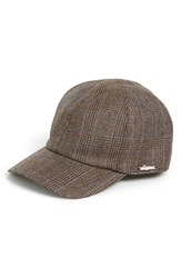 Men's Wigens Plaid Wool Ball Cap