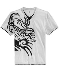 Inc International Concepts Men's Tattoo Dude Layered T Shirt Only At Macy's Silver Stream