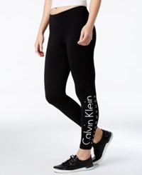 Calvin Klein Performance Logo Cropped Leggings White Comb