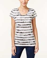 Styleandco. Style Co. Bandana Print T Shirt Only At Macy's Grey Combo