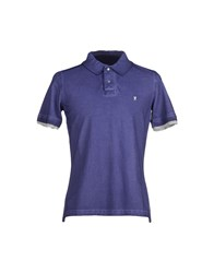 Jaggy Topwear Polo Shirts Men Dark Purple