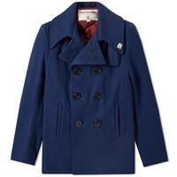 Fidelity Usn Wool Pea Coat Blue