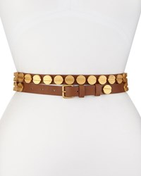 Haute Hippie Long And Winding Road Belt W Cognac Gold