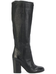 Pantanetti Knee Length Boots Calf Leather Leather Rubber Black