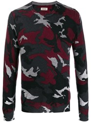 Zadig And Voltaire Camouflage Cashmere Sweater Red