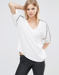B.Young Ilja Top With Arm Stripe Off White