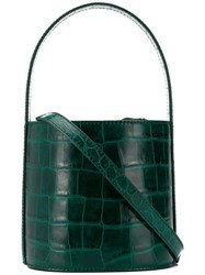 Staud Embossed Bucket Bag Green