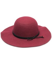 Inc International Concepts Braided Faux Suede Band Floppy Hat Only At Macy's Wine