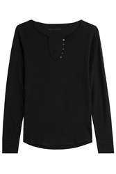 Zadig And Voltaire Long Sleeve Cotton Top Black