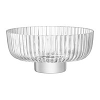 Lsa International Pleat Footed Glass Bowl
