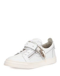 Ski Buckle Low Top Sneaker White Giuseppe Zanotti