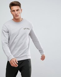Esprit Sweatshirt With 1968 Print Grey 030