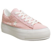 Converse All Star Low Platform Trainers Pink