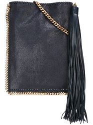Stella Mccartney 'Falabella' Flat Crossbody Bag Blue