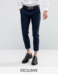 Only And Sons Skinny Cropped Trousers Navy