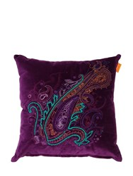 Etro Dochfour Embroidered Cotton Blend Pillow Purple