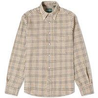Gitman Brothers Vintage Cotton Gingham Check Shirt Brown