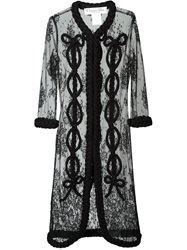 Christian Dior Vintage Lace Tulle Coat Black