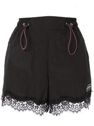 Ground Zero Lace Hem Shorts Black