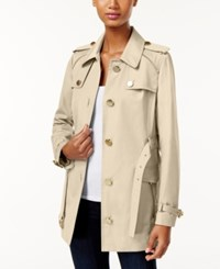 Michael Kors Zipper Trim Trench Coat Khaki