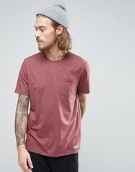 Element Basic Pocket T Shirt In Red Heather Oxblood