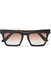 Ellery Woman Cremaster Square Frame Acetate And Gold Tone Sunglasses Black