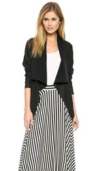 Dkny Pure Draped Leather Jacket Black