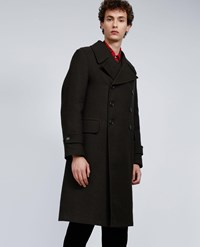 Aspesi Wool Blend Military Coat Tito Iii