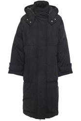 Mcq By Alexander Mcqueen Woman Oversized Shell Hooded Down Coat Black
