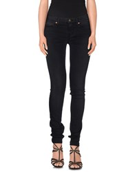 Reign Denim Denim Trousers Women Black