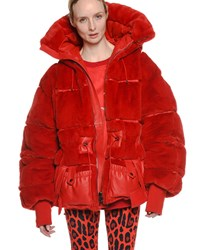Tom Ford Oversized Quilted Puffer Coat Bright Red