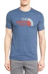 The North Face Men's Half Dome Graphic T Shirt Shady Blue Heather