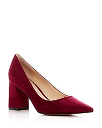 Marc Fisher Ltd. Zala Suede Pointed Toe Pumps Pink