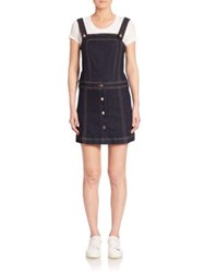 7 For All Mankind Pinafore Denim Jumper Dress Clean Rinse