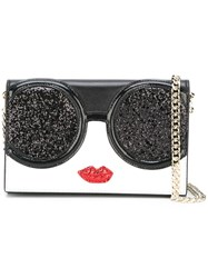 Alice Olivia Face Shaped Crossbody Bag Black