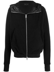 Andrea Ya'aqov Cashmere Zip Up Jacket Black