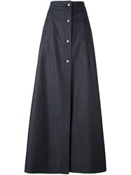 Mcq By Alexander Mcqueen Denim Maxi Skirt Blue