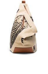 Loewe Fossil Print Anton Backpack In Neutrals