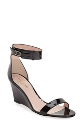 Kate Spade Women's New York 'Ronia' Wedge Sandal Black Patent
