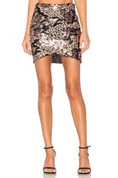 Wyldr Cross Over Skirt Metallic Gold